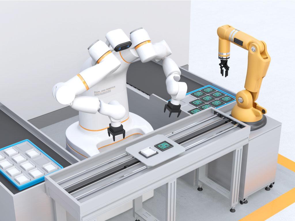 cobot i produksjonslinje